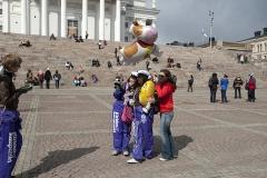Helsinki, plac Senacki, święto studentów 1 maja
