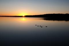 Jezioro Sajno (drodze powrotnej, wielki SPOKÓJ)