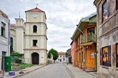 Kiejdany, Starówka, po lewej Zbór Kalwiński