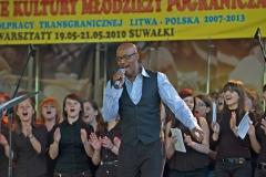 Gospel i taniec z flagami, Suwałki 2010
