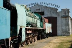 Skansen kolejowy w Kościerzynie - parowóz Pu 29