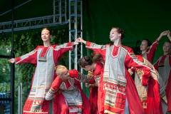 """Czersk. Festiwal KO-BOR-KA 2012. Zespół """"Kalinka"""" z Novozybkova w Rosji."""