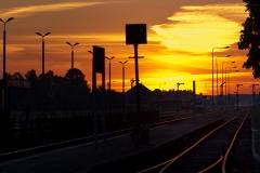 Czersk, perony 2 i 3, semafory wyjazdowe w kierunku Tczewa, Laskowic i Bydgoszczy