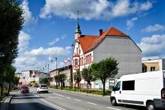 Czersk, ul. Kościuszki, ratusz, siedziba samorządu, zbudowany w 1926 r. (2018)