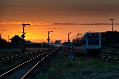 Czersk, poranny pociąg (szynobus) do Tczewa (2018)