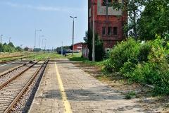 """Czersk, peron 1, dawna wieża ciśnień """"druga"""" (2018)"""