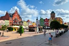 Chojnice, Stary Rynek, pierzeja północna i wschodnia (2018)