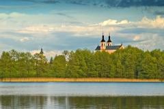 Jezioro Wigry, klasztor w Wigrach (2008)