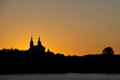 Jezioro Wigry. Klasztor w Wigrach
